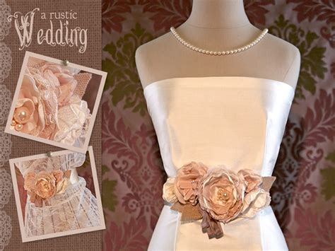 floral wedding gown sash sew4home