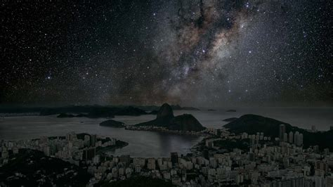 night sky without light pollution this is how cities would look at night without lights