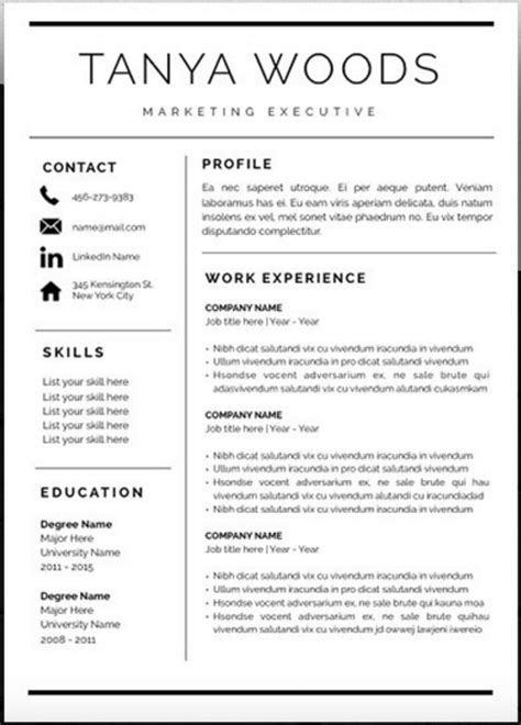 Resume Template Etsy by Resume Template Word Etsy Cv Template Etsy Cv Template