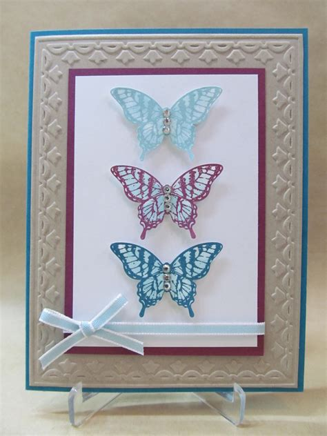 Butterfly Cards Handmade - savvy handmade cards butterfly trio card