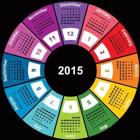 geometric shape circle colorful15 vector calendar template