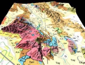geological map of arizona arizona geology 3d