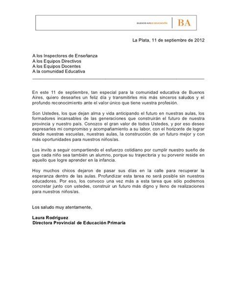 carta de presentacion autocandidatura maestro carta de la directora de educaci 243 n primaria a los maestros en su d 237 a