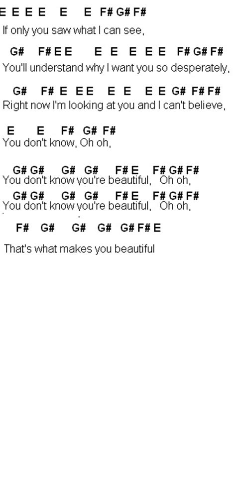 Letter You Are Beautiful Flute Sheet What Makes You Beautiful