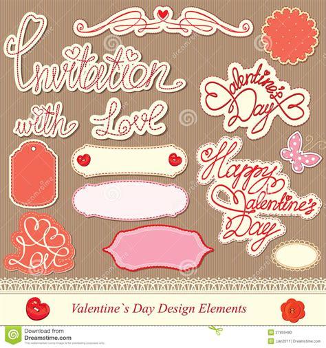 valentines day design elements stock photo image 27959490