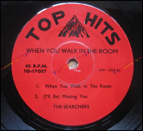 the searchers when you walk in the room totally vinyl records searchers the ep when you walk in the room i ll be missing you