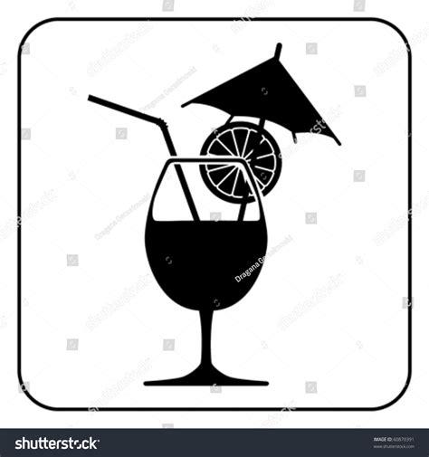 martini silhouette vector silhouette drink vector stock vector 60870391 shutterstock