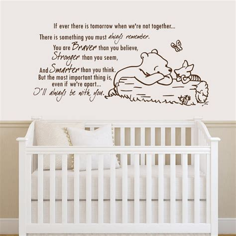 winnie the pooh quotes wall stickers winnie the pooh quote wall decal vinyl sticker decals quotes