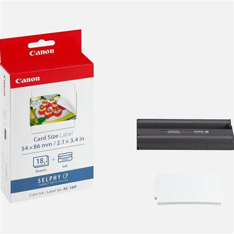 Credit Card Size Format Canon Kc 18if Tinten Und Papiersatz Kreditkartenformat 18 Sticker Canon Deutschland Shop