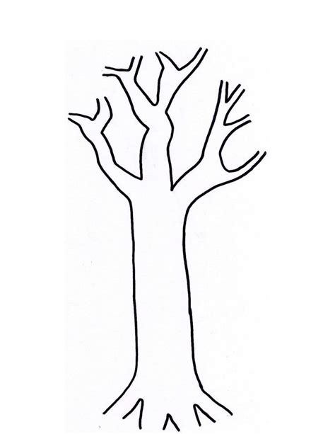 Coloring Pages Tree Trunk | tree trunk coloring page coloring home