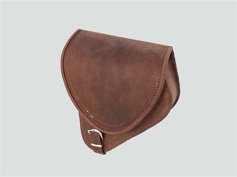 swing arm saddle bag brown leather swingarm single pannier saddle bag harley