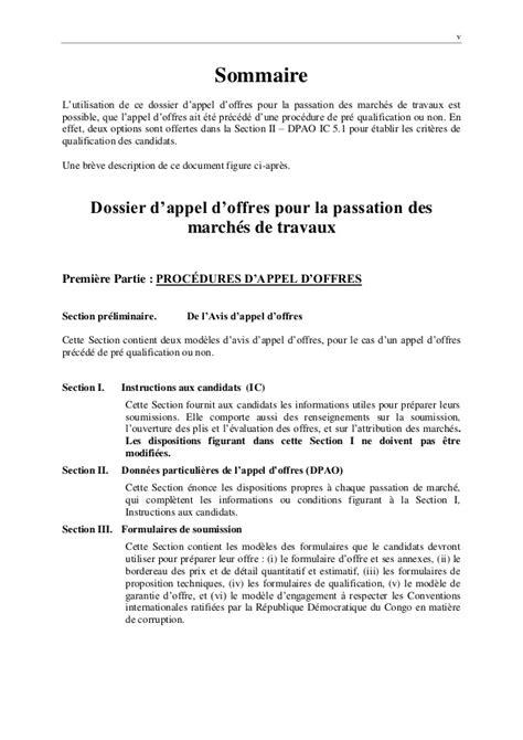 Modeles De Lettre D Appel D Offre Dao Ogefrem