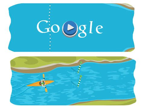 doodle canoe list of interactive doodles for olympics 2012