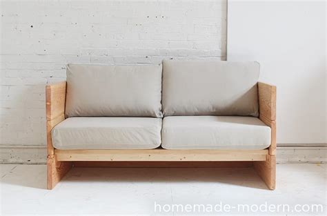 white diy box sofa featuring modern diy