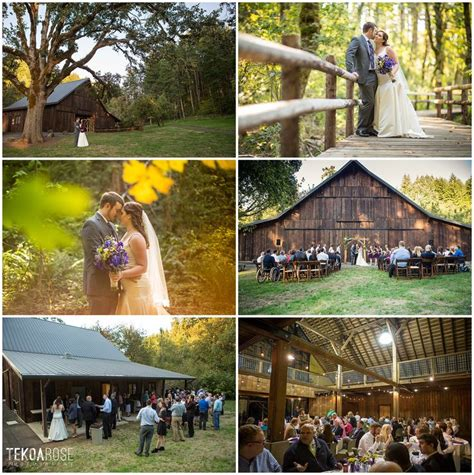 Wedding Venues Oregon by Beazell Memorial Forest Rustic Barn Wedding In Corvallis