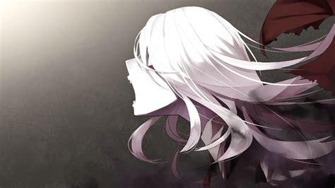 anime girl creepy wallpaper anime creepy girl white hair wallpaper 2048x1152