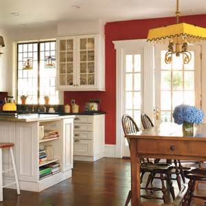 Red Kitchens With White Cabinets by The Lasnick Family Celebrating The First Meal In A New