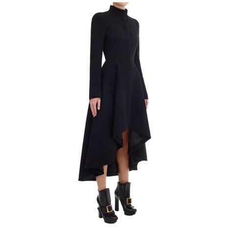 Dress Coats mcqueen wave ruffle dress coat in black lyst