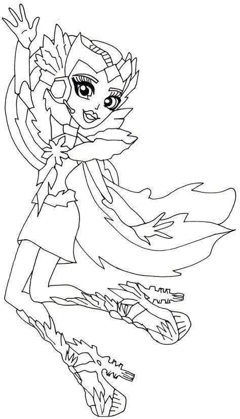 catty noir boo york monster high coloring page png 850 1 600