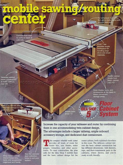 Table Saw Workstation Plans by 863 Table Saw Workstation Plans Woodarchivist