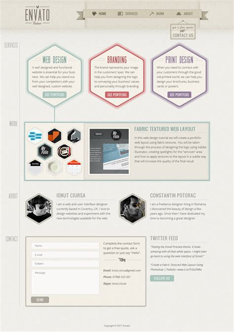 layout web design tutorial create a one page retro web design layout in photoshop