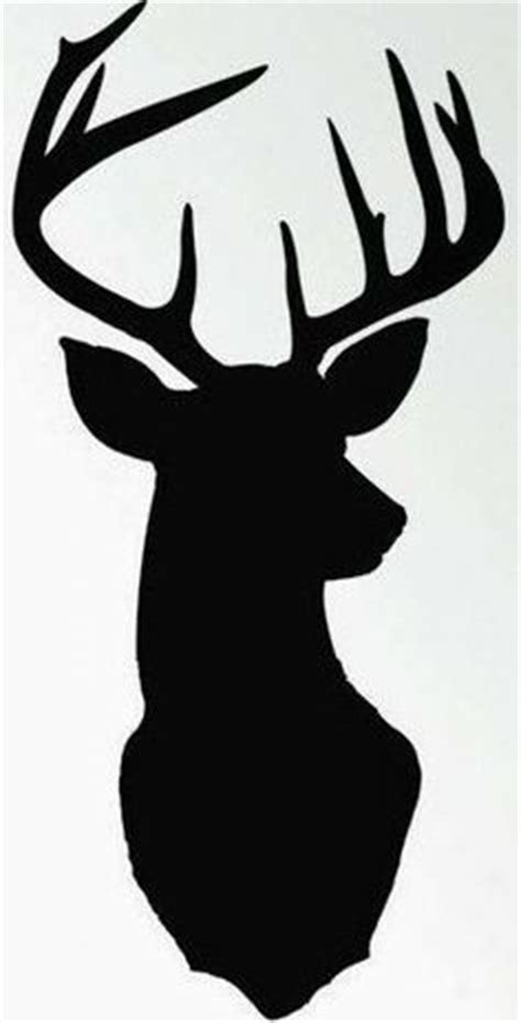 free printable reindeer head silhouette stag head pattern use the printable outline for crafts