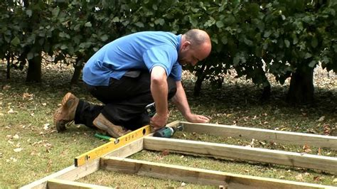 build  wooden shed base youtube