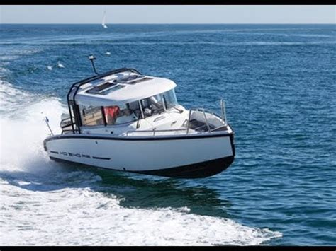 cabin motor boats motor boats monthly test the xo240 rs open and cabin youtube