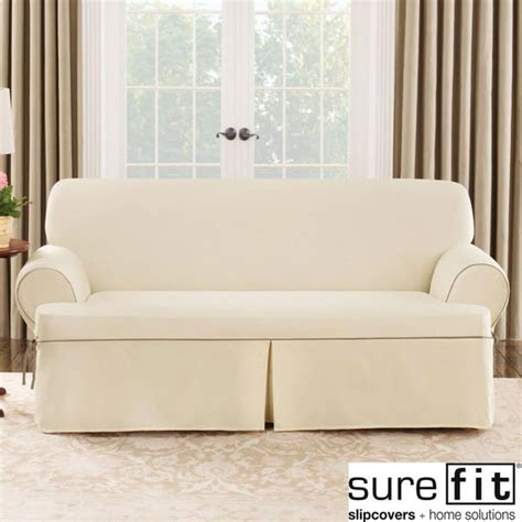 t couch slipcovers sure fit natural cord sofa t cushion slipcover free