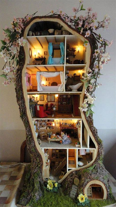 tree doll house diy treehouse dollhouse decoist