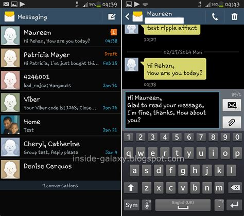 samsung galaxy s4 how to view reply and forward text messages