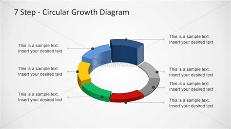 4 step circular growth diagram for powerpoint slidemodel 6233 07 7step circular growth diagrams 2 slidemodel