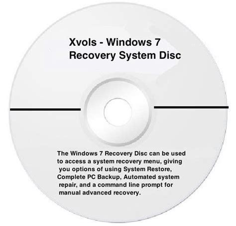 laptop windows 7 system recovery disk boot cd 32 bit ebay