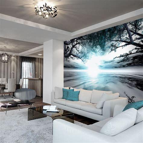 spa badezimmerideen fototapeta z turkusowym krajobrazem do salonu