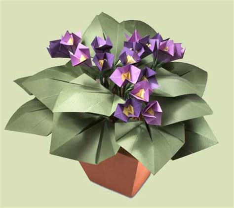 Plant Origami - origami flowers and plants
