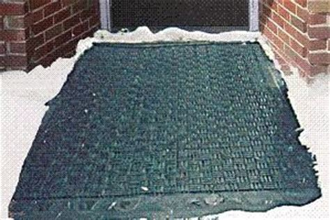 Snow Floor Covering by Heated Floor Mat Eliminates Snow And Water Worries