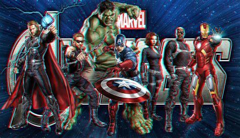 imagenes en 3d marvel the avengers in 3d by geosammy on deviantart