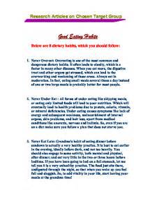 Healthy Diet Essay by An Essay On Healthy Food