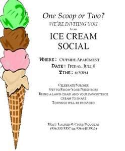 Ice Cream Social Invitation Template Invitation Template Social Flyer Word Template