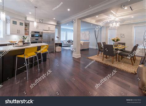 Kitchen Service Area Design by Luxury Modern Kitchen Dining Room Area Stock Photo