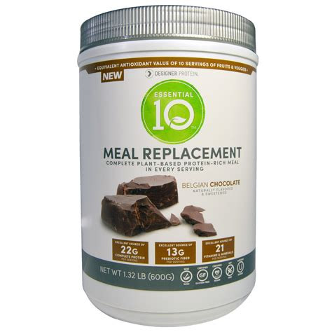 protein replacement designer protein essential 10 meal replacement protein