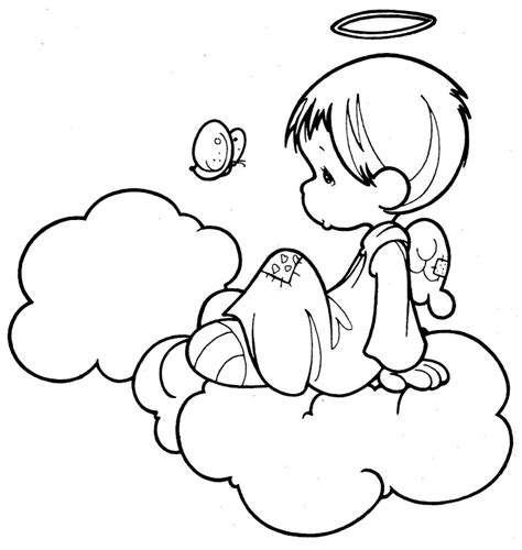 angel and a butterfly precious moments coloring pages