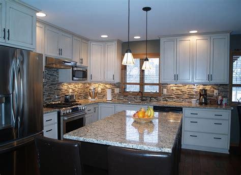 charming white granite countertops for kitchen