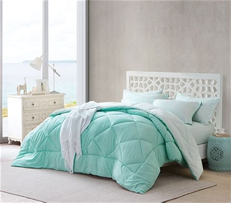 mint twin bedding hint of mint yucca reversible twin xl comforter