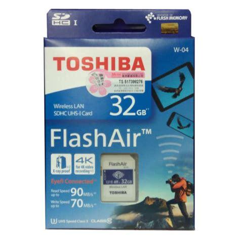 Memory Card Flash Air buy toshiba flashair w 04 wireless sd memory card 32gb in