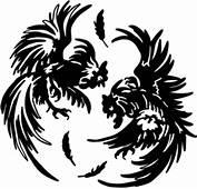 Chicken Rooster Fight Decal STOB1 Farm Yard Vinyl