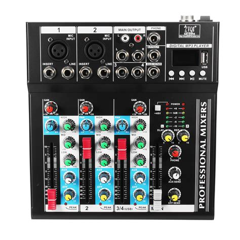 Mixer Lifer Acoustic Ac 3202 Usb 4 channel professional stage live studio audio mixer usb mixing console dj ktv alex nld