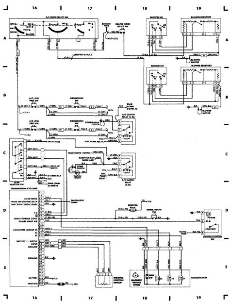1991 jeep wrangler yj wiring diagram 1991 free engine