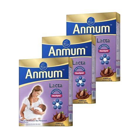 Anmum Materna 200 Gr Jual Anmum Lacta Cokelat Ibu 200 G 3 Pcs