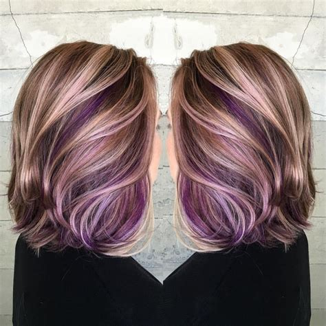 plumb colour hairstyles amazing purple peekaboo hair color colorful of lavender